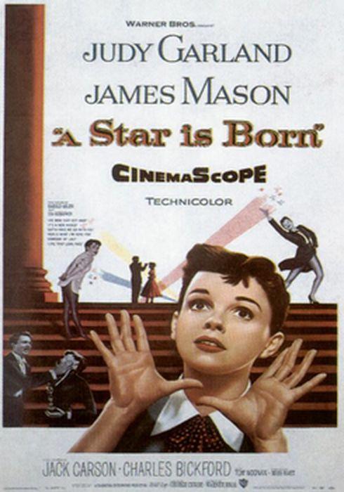 Cartel oficial en español de: Ha nacido una estrella (1954)