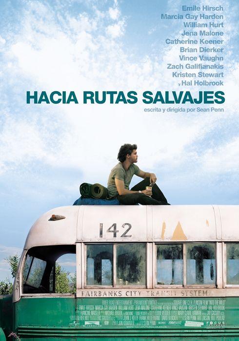 Cartel oficial en español de: Hacia rutas salvajes