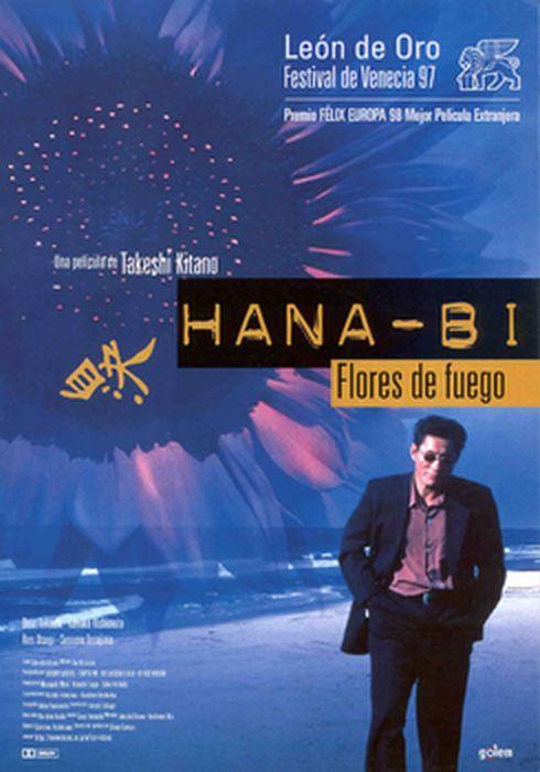 Cartel oficial en español de: Hana-Bi (Flores de fuego)