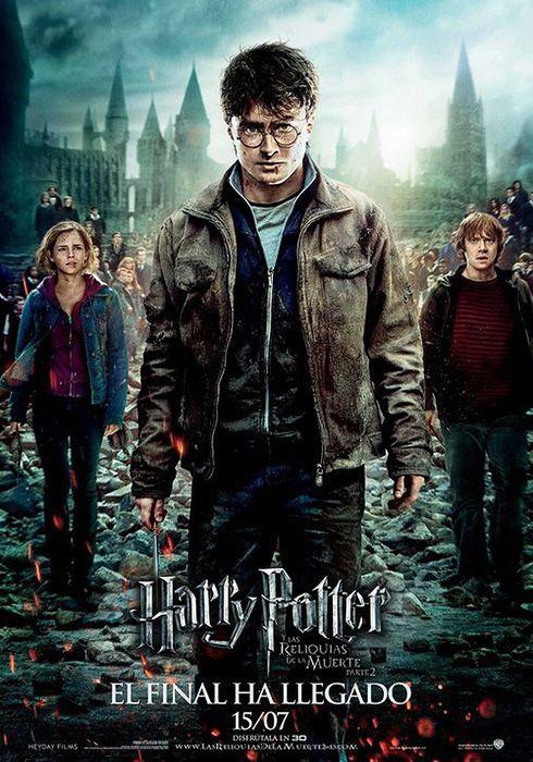Cartel oficial en español de: Harry Potter y las reliquias de la muerte: Parte II