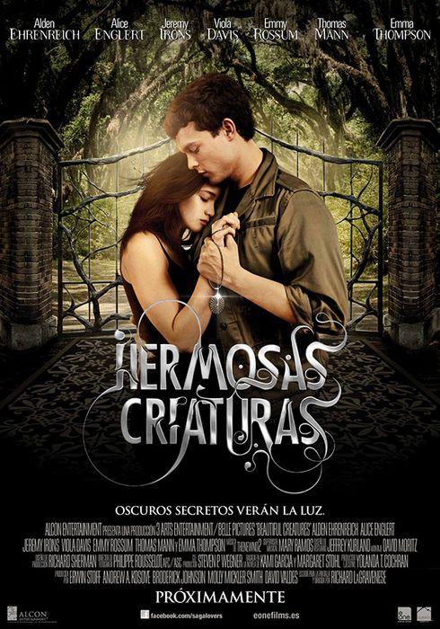 Cartel oficial en español de: Hermosas criaturas