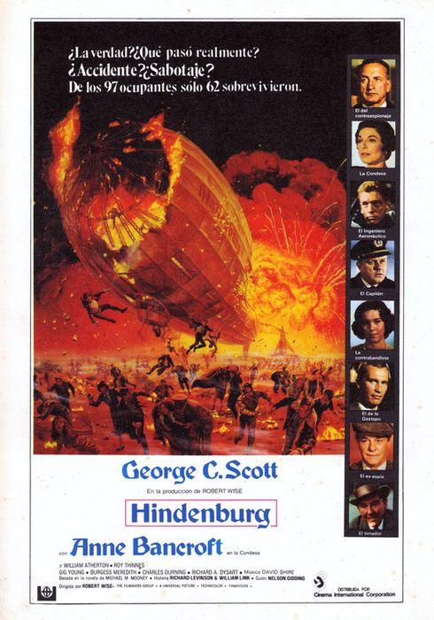 Cartel oficial en español de: Hindenburg