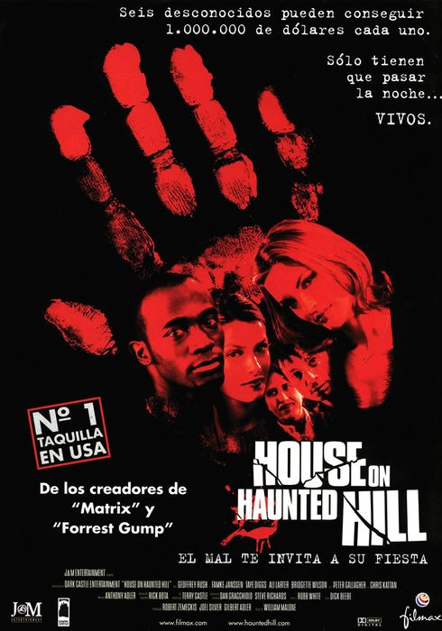 Cartel oficial en español de: House On Haunted Hill