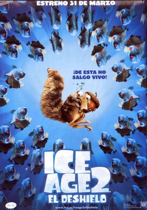 Cartel oficial en español de: Ice Age 2: El deshielo (La edad de hielo 2)