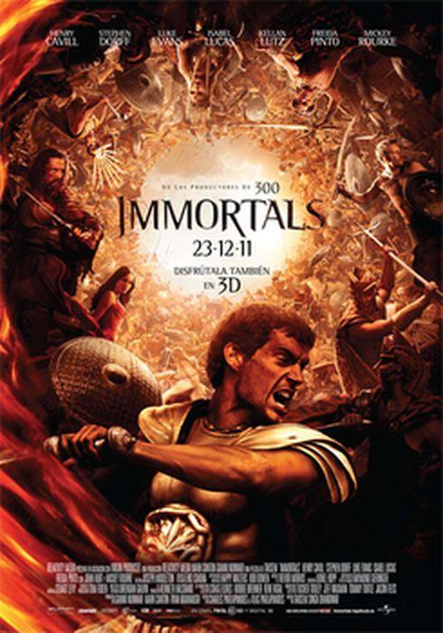 Cartel oficial en español de: Immortals