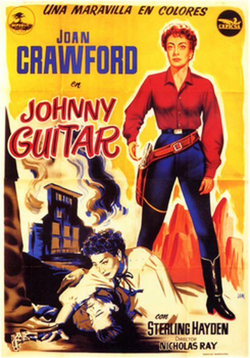 Cartel oficial en español de: Johnny Guitar