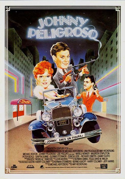Cartel oficial en español de: Johnny peligroso