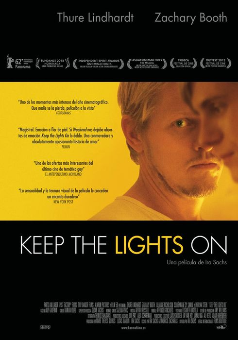 Cartel oficial en español de: Keep the Lights On