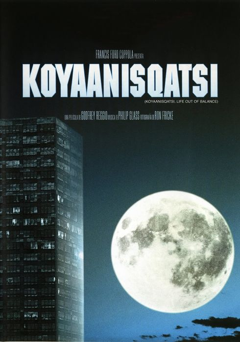 Cartel oficial en español de: Koyaanisqatsi