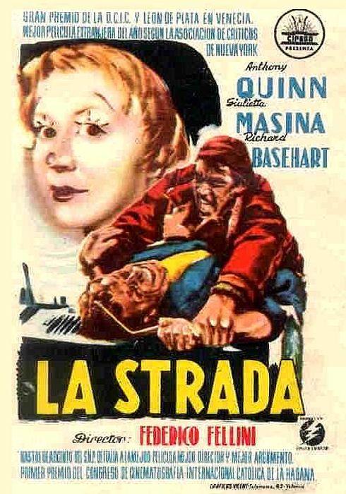 Cartel oficial en español de: La Strada