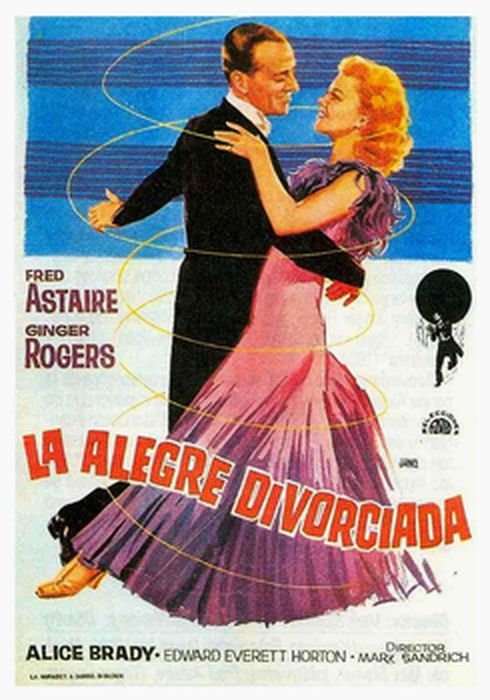 Cartel oficial en español de: La alegre divorciada