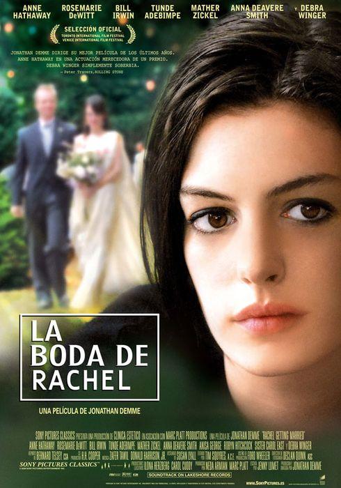Cartel oficial en español de: La boda de Rachel