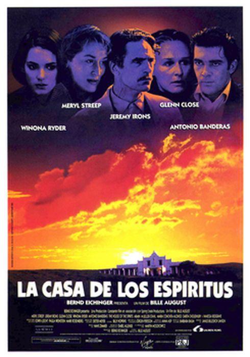 Cartel oficial en español de: La casa de los espíritus