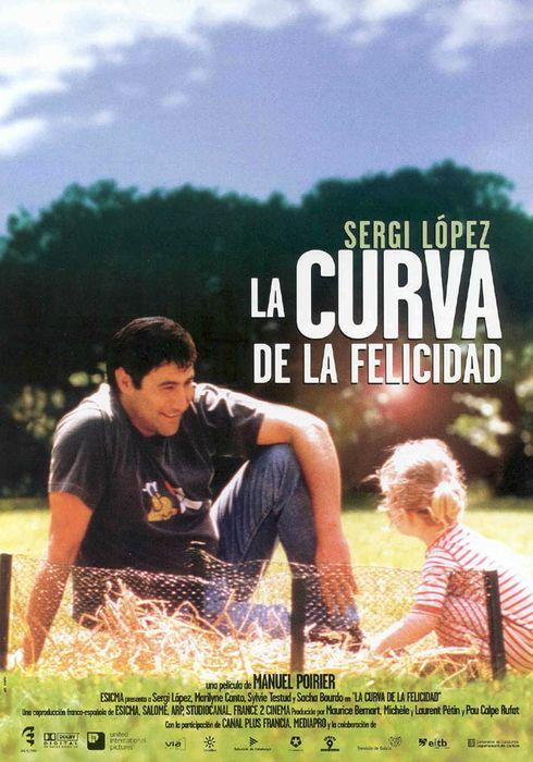 Cartel oficial en español de: La curva de la felicidad
