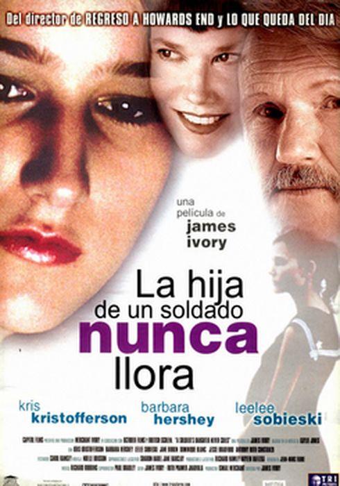 Cartel oficial en español de: La hija de un soldado nunca llora