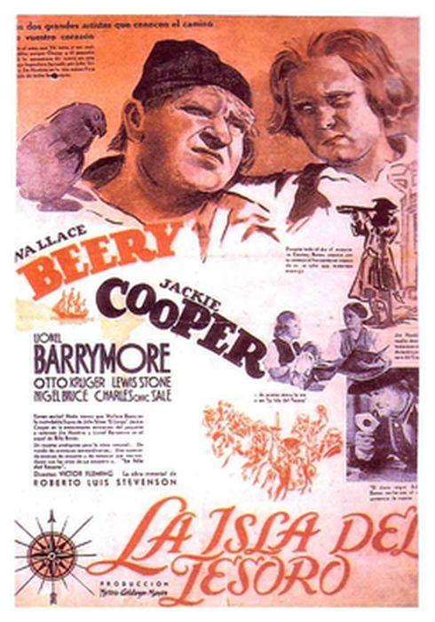 Cartel oficial en español de: La isla del tesoro (1934)