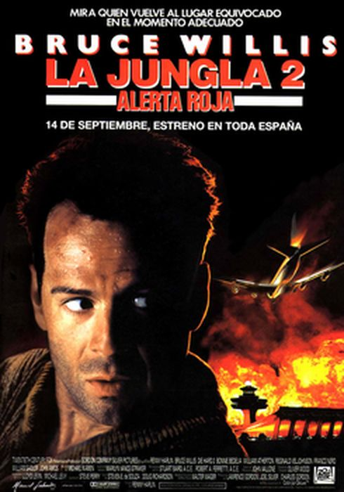 Cartel oficial en español de: La jungla 2: alerta roja