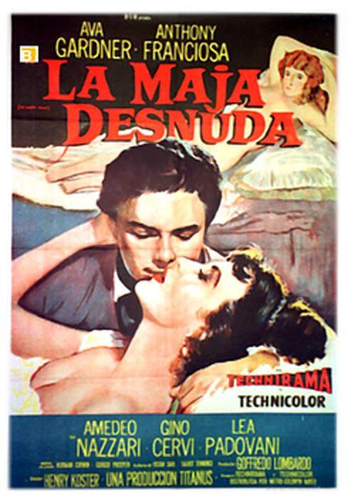 Cartel oficial en español de: La maja desnuda