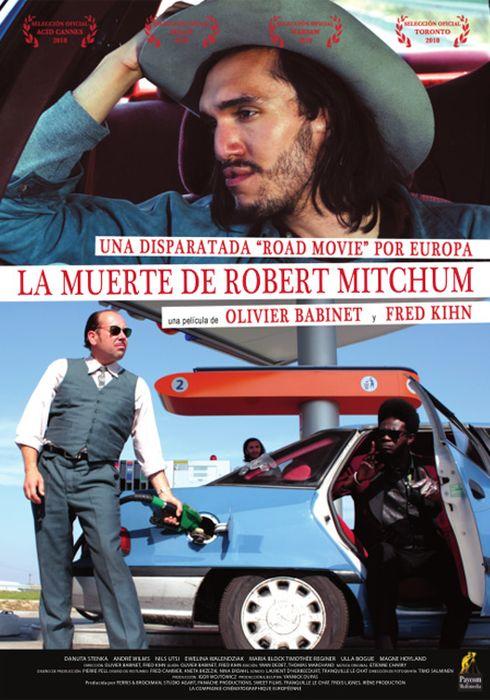 Cartel oficial en español de: La muerte de Robert Mitchum