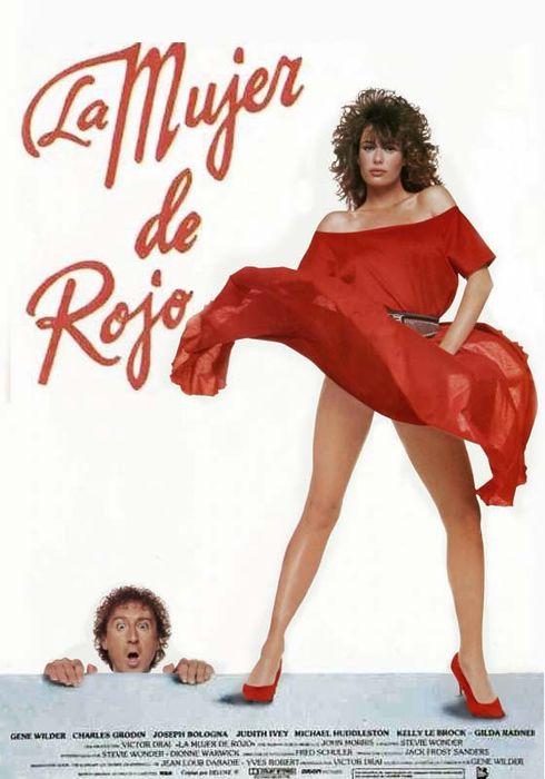 Cartel oficial en español de: La mujer de rojo