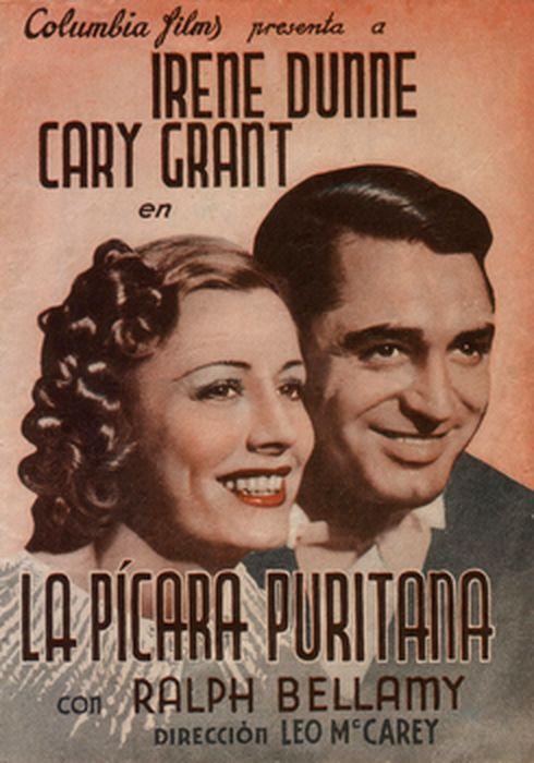 Cartel oficial en español de: La pícara puritana