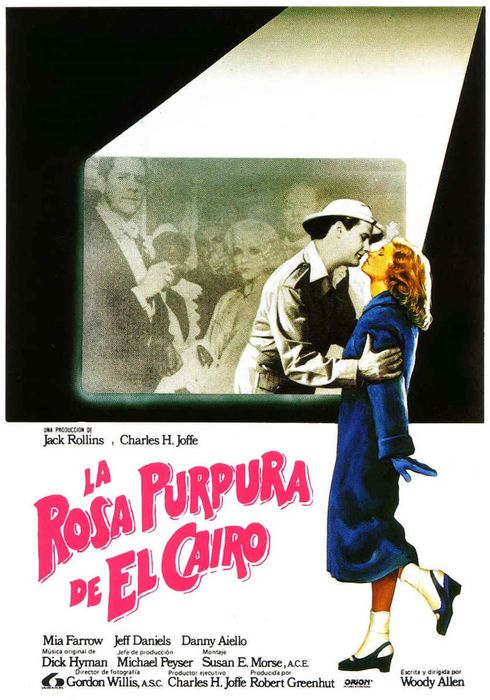Cartel oficial en español de: La rosa púrpura de El Cairo