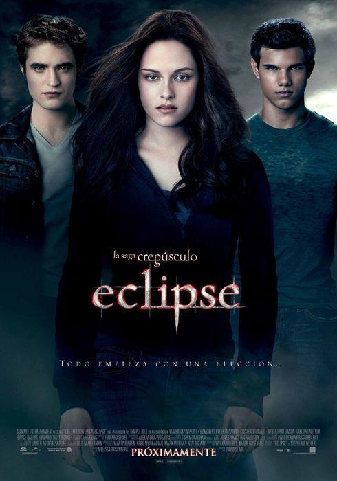 Cartel oficial en español de: La saga Crepúsculo: Eclipse