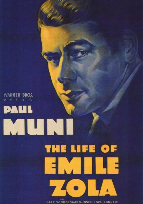 Cartel oficial en español de: La vida de Émile Zola
