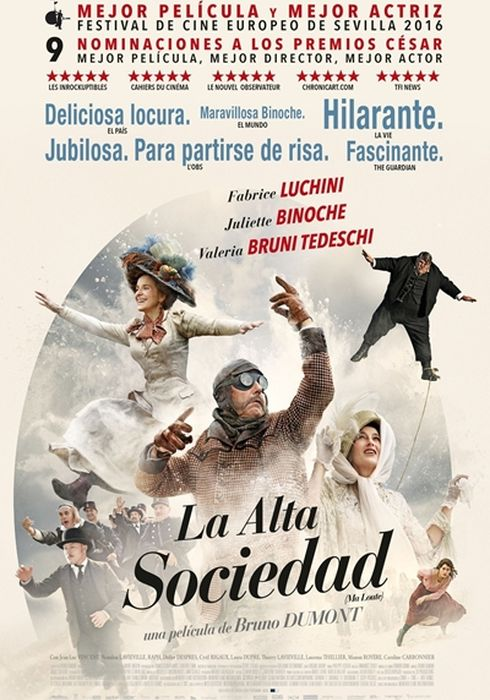 Cartel oficial en español de: La alta sociedad