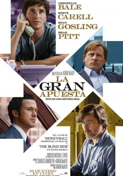 Cartel oficial en español de: La gran apuesta