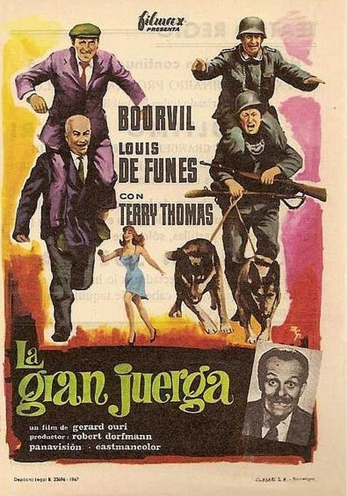 Cartel oficial en español de: La gran juerga
