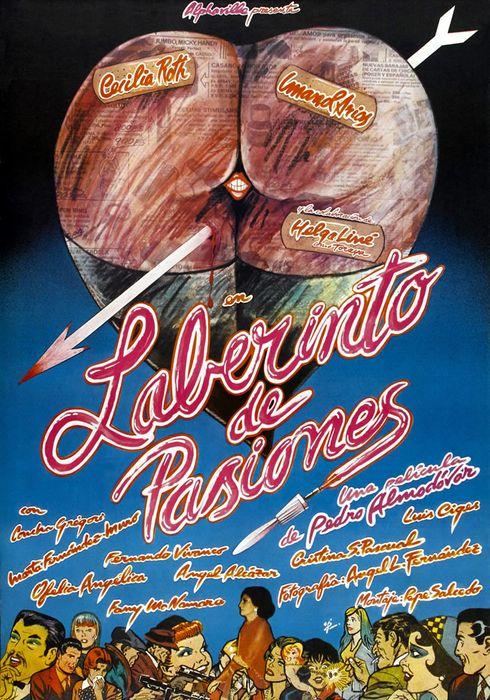 Cartel oficial en español de: Laberinto de pasiones