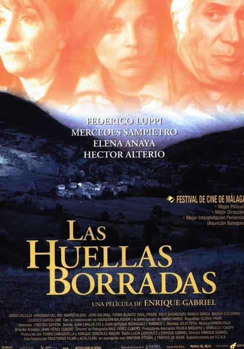 Cartel oficial en español de: Las huellas borradas