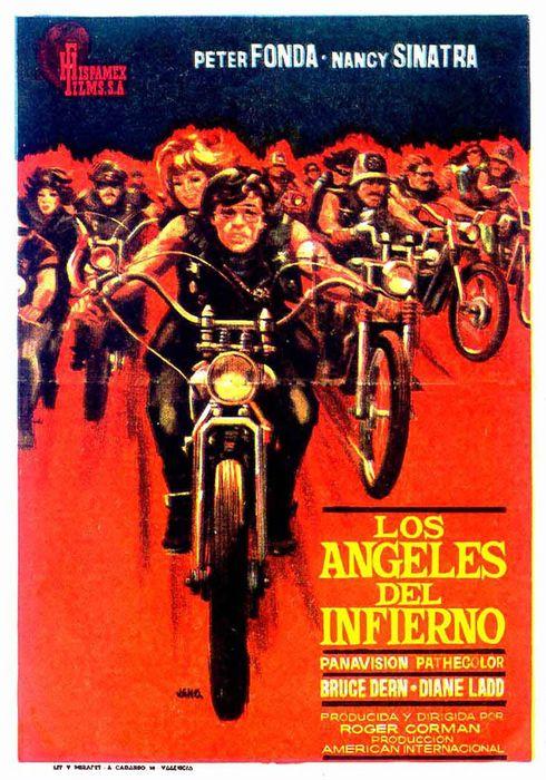 Cartel oficial en español de: Los ángeles del infierno (1966)