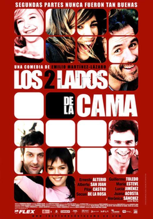 Cartel oficial en español de: Los 2 lados de la cama