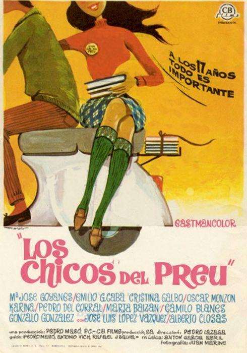 Cartel oficial en español de: Los chicos del Preu