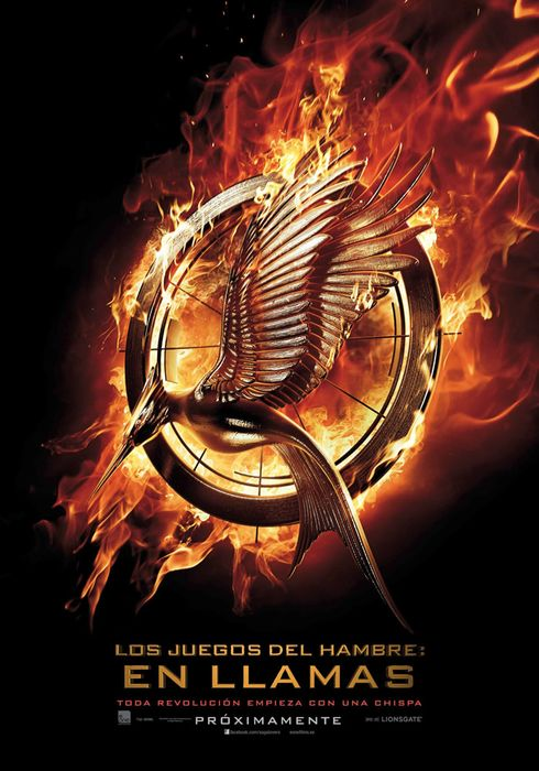 Cartel oficial en español de: Los juegos del hambre: En llamas