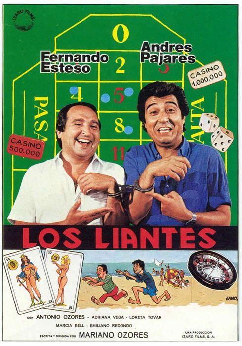 Cartel oficial en español de: Los liantes