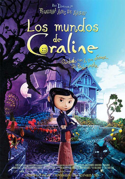 Cartel oficial en español de: Los mundos de Coraline