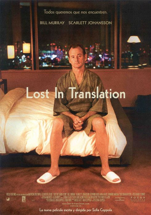 Cartel oficial en español de: Lost in Translation