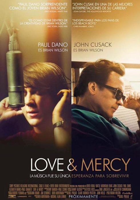 Cartel oficial en español de: Love & Mercy