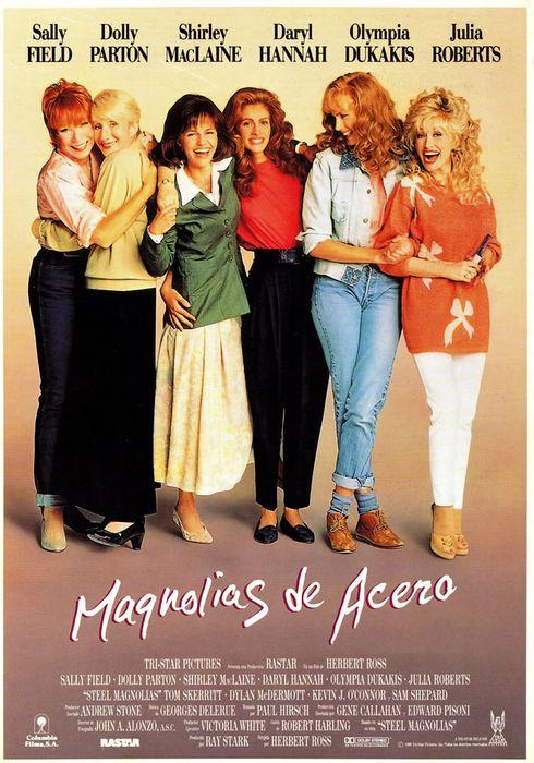 Cartel oficial en español de: Magnolias de acero