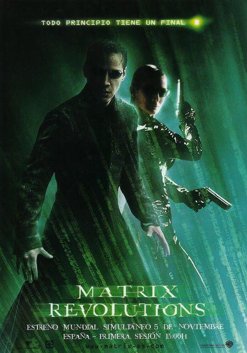 Cartel oficial en español de: Matrix Revolutions