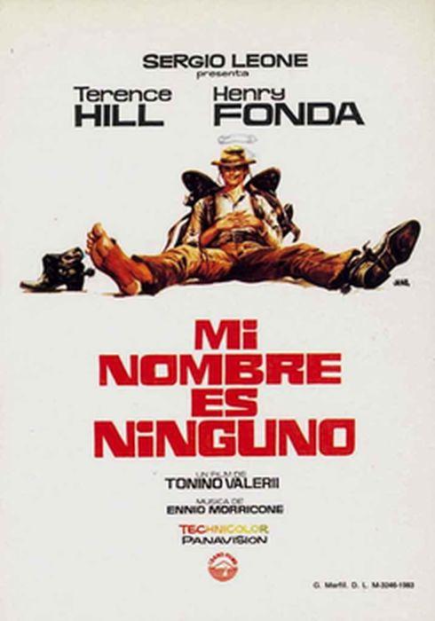 Cartel oficial en español de: Mi nombre es Ninguno