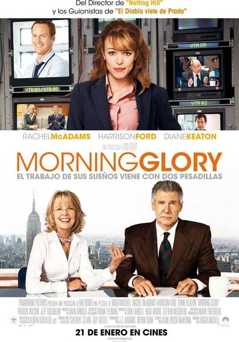 Cartel oficial en español de: Morning glory