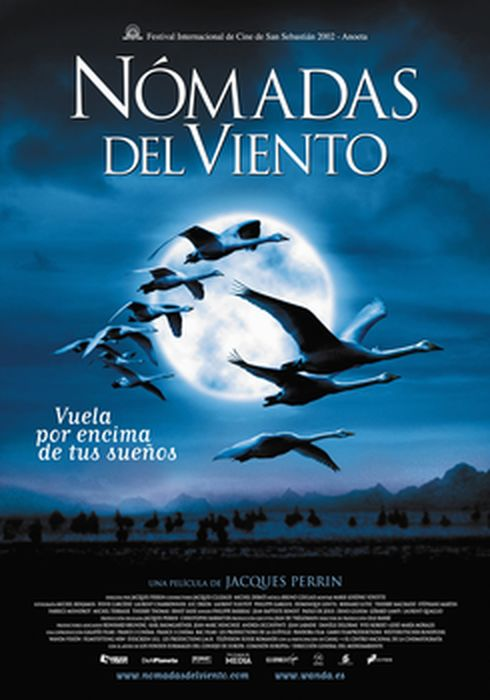 Cartel oficial en español de: Nómadas del viento