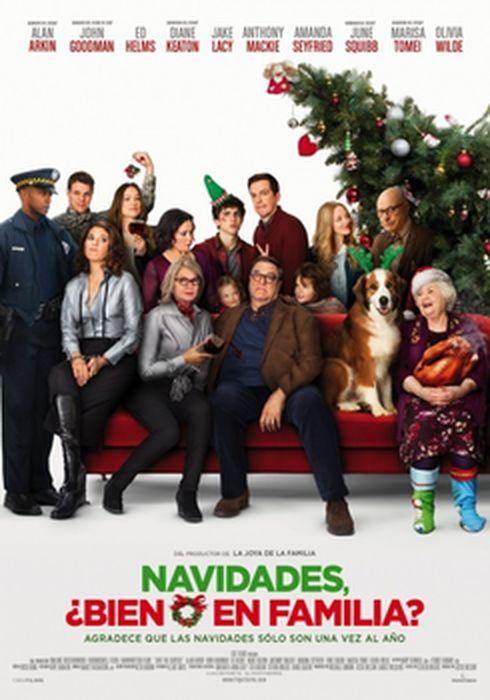 Cartel oficial en español de: Navidades, ¿bien o en familia?