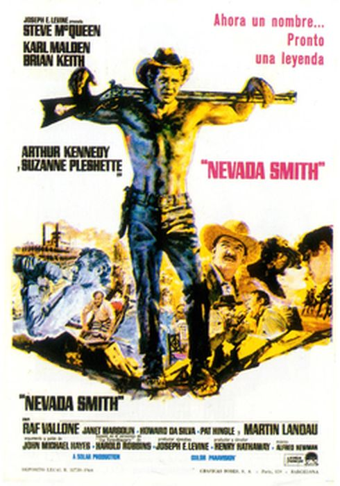 Cartel oficial en español de: Nevada Smith