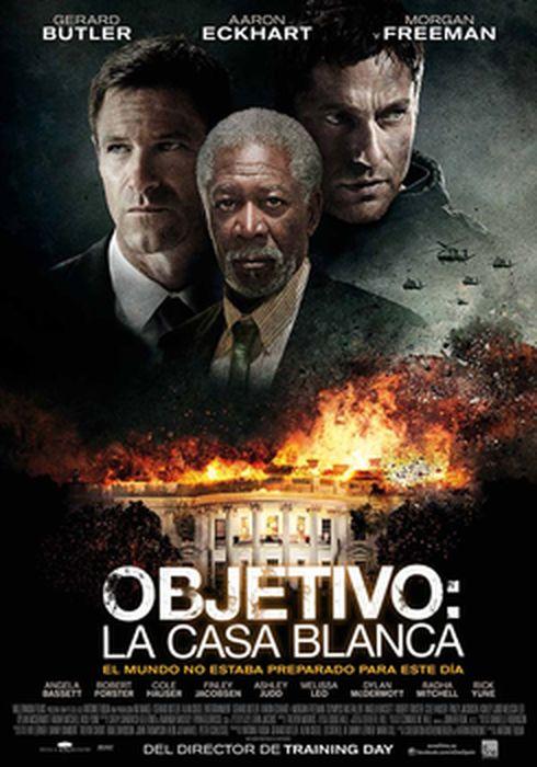 Cartel oficial en español de: Objetivo: La Casa Blanca