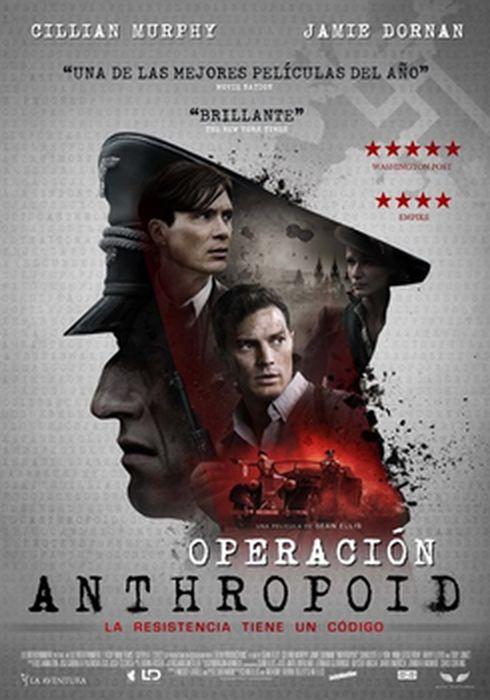 Cartel oficial en español de: Operación Anthropoid